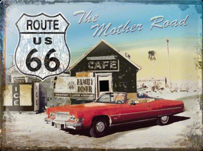 Route 66 The mother road 30x40cm