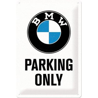 BMW Parking Only wit 20x30cm
