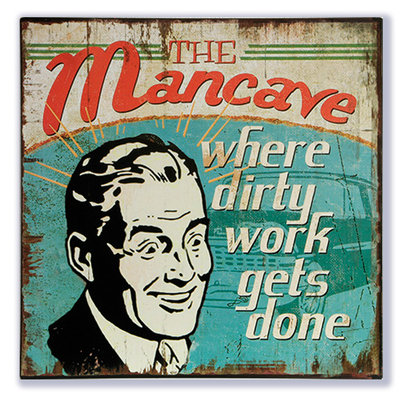 The Mancave where dirty work gets done 30x30cm