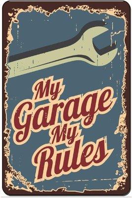 My garage My rules 33x25cm