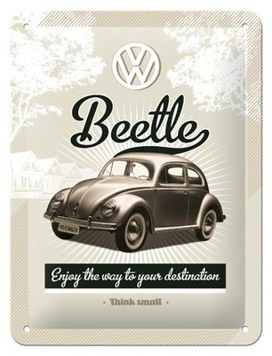 VW Beetle, Enjoy the way to your destination 15x20cm
