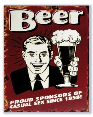 Beer Proud sponsors of casual sex rood 25x20 cm
