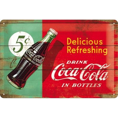 Coca Cola Flesje 1950 20x30 cm