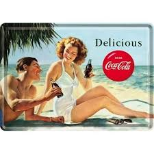 Postcard Coca Cola Delicious