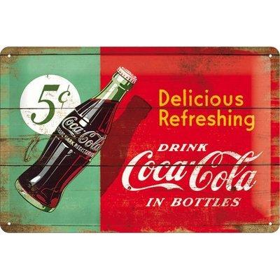Postcard Coca Cola flesje 1950