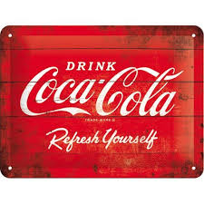 Coca Cola Refresh yourself 3D 20x15 cm