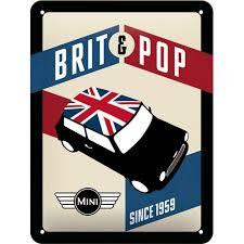 Mini Brit&Pop since 1959 3D 20x15CM