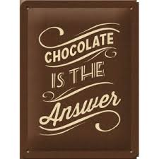 Postcard Chocolate is the answer 10x15CM