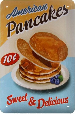 American pancakes, Sweet and Delicious 3D 20x15CM