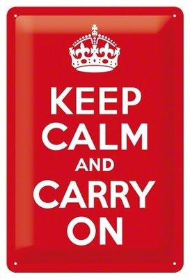 Keep calm and carry on 3D 20x30CM