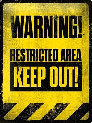 Warning restricted area Keep Out 3D 30x40CM